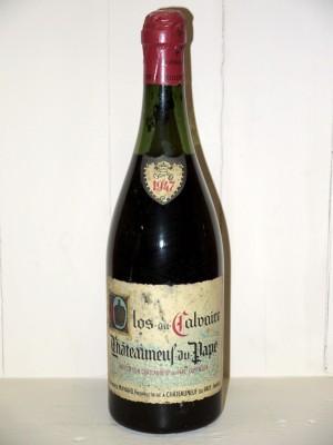 Vins anciens Vallée du Rhône Clos du Calvaire 1947 Alphonse Mayard