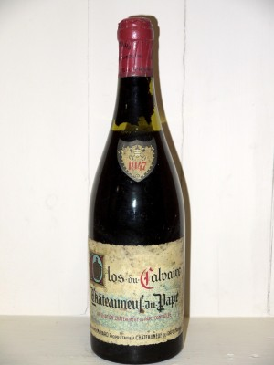 Vins grands crus Vallée du Rhône Clos du Calvaire 1947 Alphonse Mayard