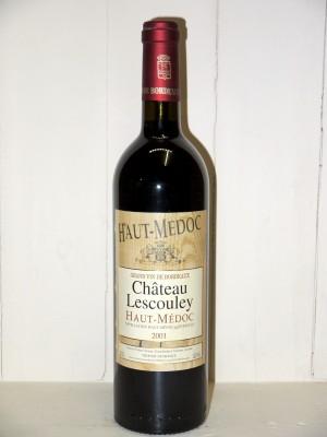 Vins anciens Haut-Médoc Château Lescouley 2001