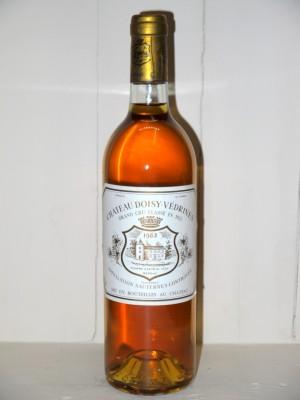 Vins grands crus Sauternes - Barsac - Loupiac Château Doisy-Védrines 1983