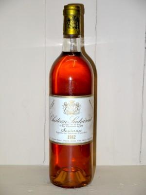 Grands crus Sauternes - Barsac - Loupiac Château Suduiraut 1982