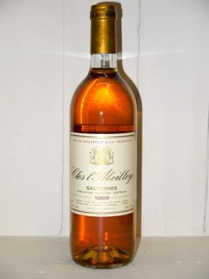 Grands vins Sauternes - Barsac - Loupiac Clos L'Abeilley 1988
