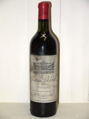 Grands vins Saint-Estèphe Château Le crock 1973