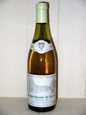 Grands vins Chassagne-Montrachet - Puligny-Montrachet Chassagne-Montrachet 1986 Clos Saint Jean Château Genot-Boulanger
