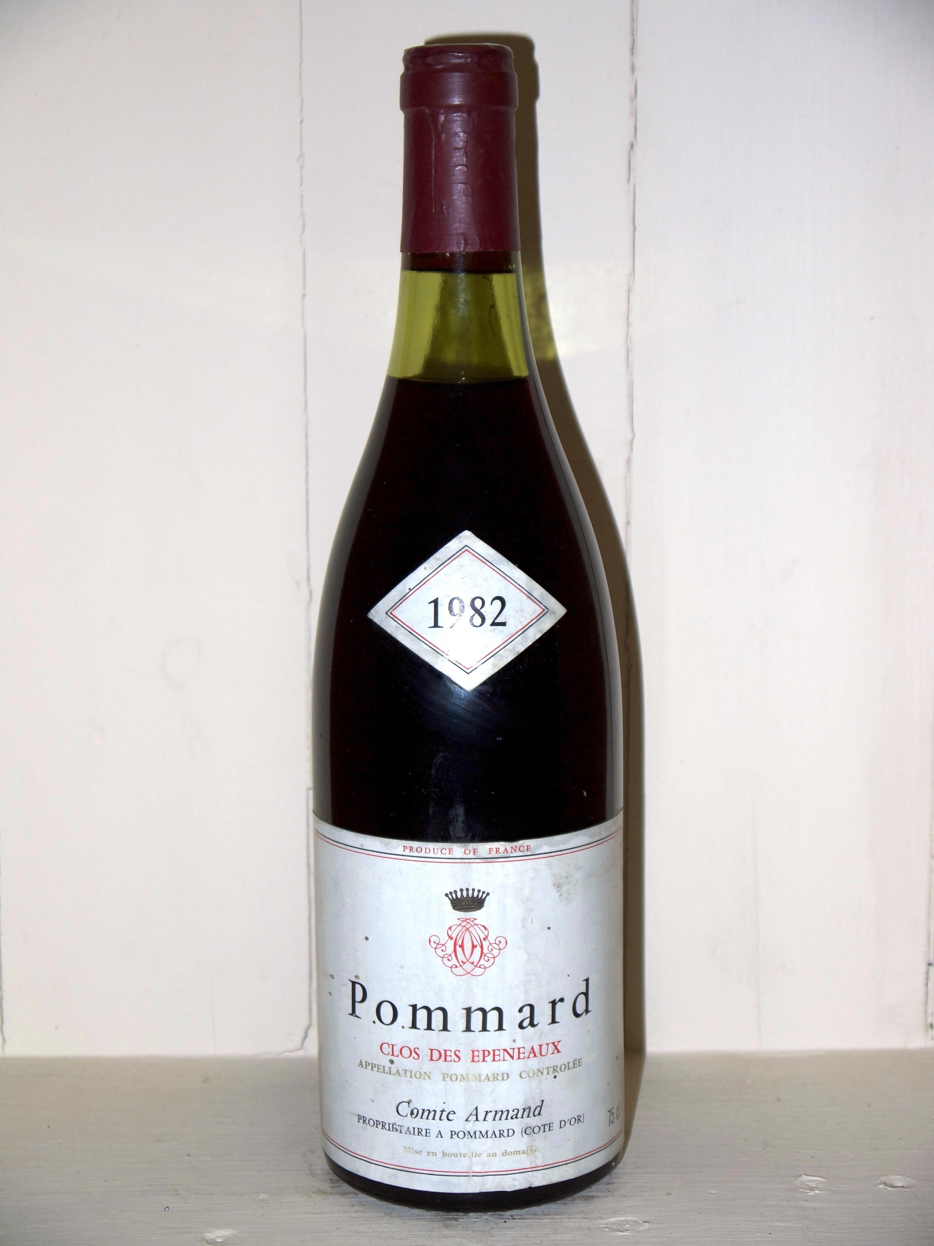 Pommard 1982 Clos Des Epeneaux Comte Armand Great Wine Pommard Au Droit De Bouchon