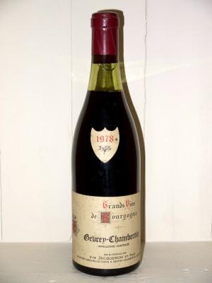 Vins anciens Gevrey-Chambertin Gevrey-Chambertin 1978 Vve Jacqueson et fils