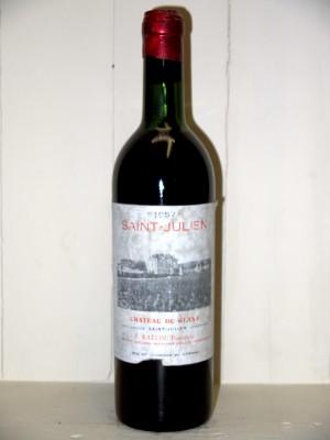Vins anciens Saint-Julien Château du Glana 1957