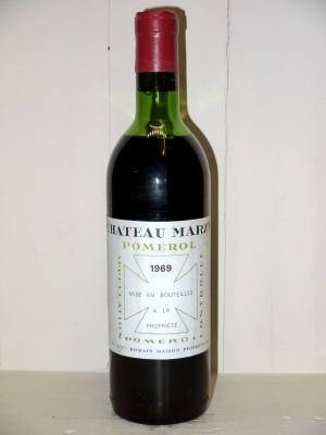 Vins de collection Pomerol - Lalande de Pomerol Château Marzy 1969