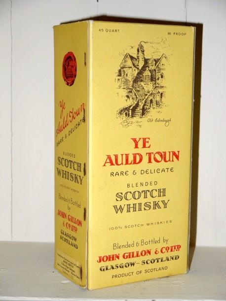 Ye Auld Town Scotch Whisky en étui Années 70