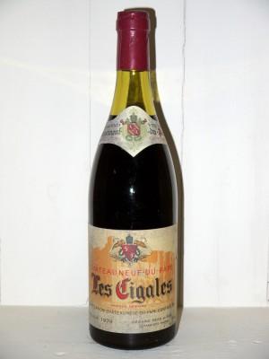 """Vins de collection Vallée du Rhône Chateauneuf du Pape 1979 """"Les Cigales"""" Bérard"""