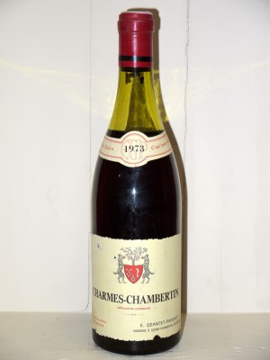Vins grands crus Gevrey-Chambertin Charmes-Chambertin 1973 Domaine Geantet-Pansiot