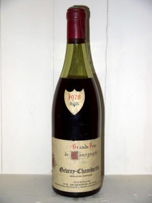 Vins grands crus Gevrey-Chambertin Gevrey-Chambertin 1978 Domaine Veuve Jacqueson & fils