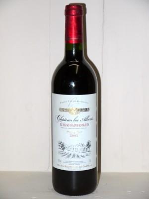 Vins grands crus Bordeaux Château Les Alberts 2003