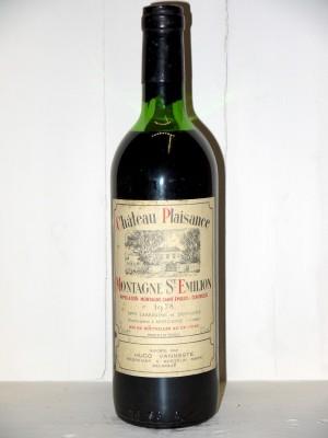Grands crus Bordeaux Château Plaisance 1978