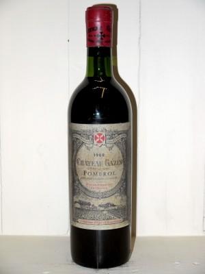 Millesime prestige Bordeaux  Château Gazin 1962