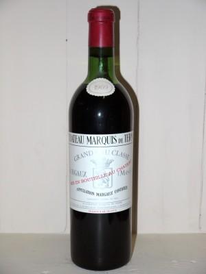 Vins de collection Bordeaux  Château Marquis de Terme 1969