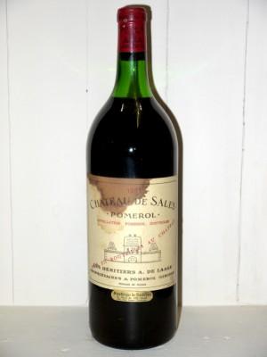 Vins anciens Bordeaux  Magnum Château de Sales 1981