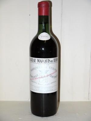 Vins grands crus Bordeaux  Château Marquis de Terme 1966