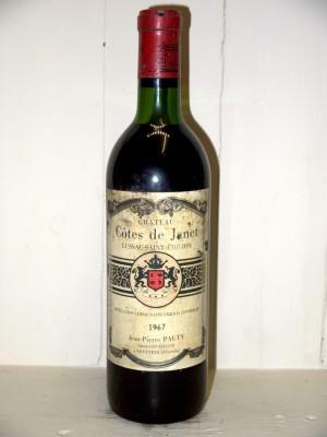 Grands vins Bordeaux  Château Côtes de Janet 1967