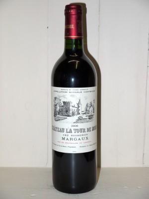 Vins anciens Margaux Château La Tour de Mons 2000