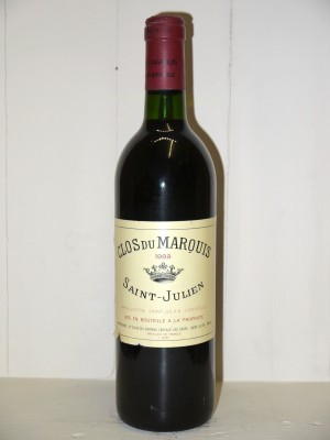 Grands crus Saint-Julien Clos du Marquis 1989
