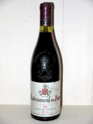 """Chateauneuf du Pape 1979 """"Cuvée du Vatican"""" Diffonty"""
